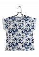 SMUDGED FLOWER PRINTED TOP