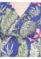 Tiara maternity Navy floral maxi dress