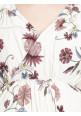 Beige Flower Long Maxi Dress