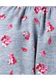 Tiara Flower Print Full Length Stretchable Leggings Red Flying Petals