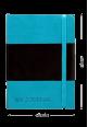 Italian leather notebook blue