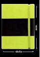 Italian leather notebook green