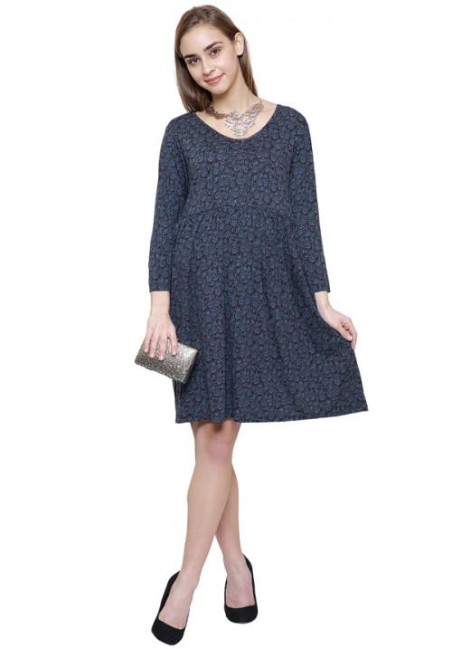 Elegant Print Classic Dress