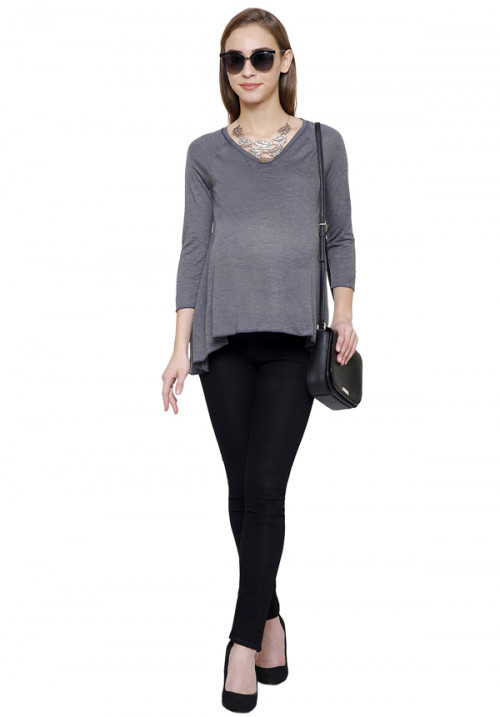 Grey Milange Short Tunic